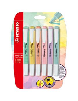 marcador-fluorescente-plano-de-bolsillo-blister-6-uds-pastel-stabilo by stabilo