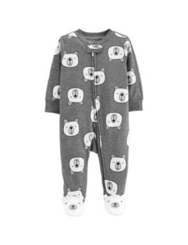 carters®-zip-front-polar-bear-sleep-&-play-footie-in-heather-grey by carters