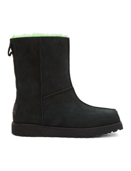 black-&-green-ugg-edition-block-boots by eckhaus-latta