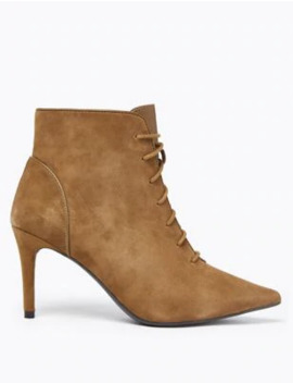 suede-lace-up-stiletto-heel-ankle-boots by marks-&-spencer