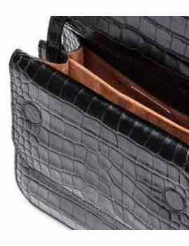 ana-croc-effect-shoulder-bag by rejina-pyo