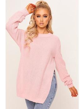 pink-split-side-jumper by i-saw-it-first