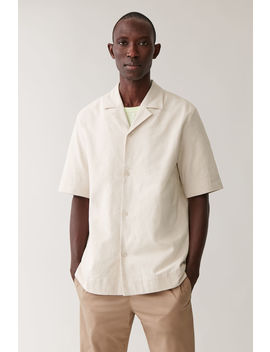 short-sleeved-cotton-shirt by cos