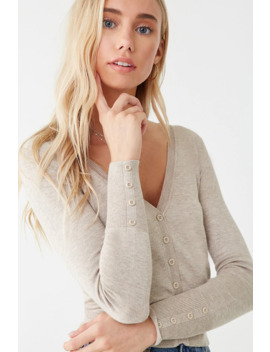 v-neck-button-front-cardigan by forever-21