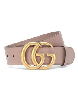dusty-pink-nude-new-85-cm-leather-gg-logo-belt by gucci