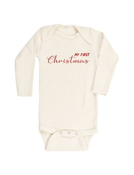 my-first-christmas-organic-cotton-bodysuit by tenth-&-pine