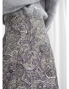 Paisley Jacquard Mini Skirt by & Other Stories