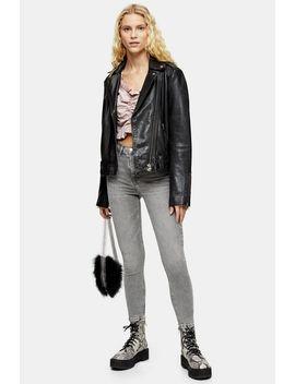 grey-raw-waistband-jamie-jeans by topshop