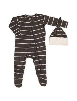 jersey-footie-&-hat-set by baby-grey
