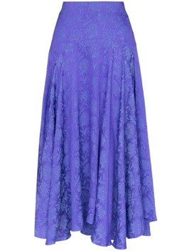 silk-jacquard-midi-skirt by chloé