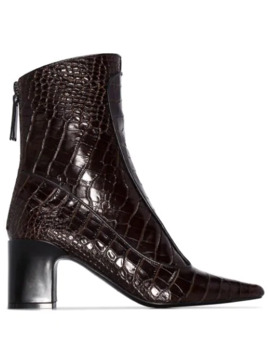 timeless-crocodile-effect-ankle-boots by fabrizio-viti