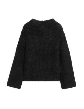 high-neck-wool-blend-sweater by arket