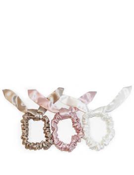 slip-silk-bunny-scrunchies---caramel_pink_white-(pack-of-3) by slip