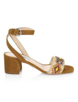 embellished-embroidered-block-heel-leather-sandals by prada
