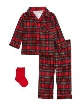 plaid-2-piece-pajamas-&-socks-set by little-me