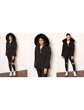 harper-black-quilted-hooded-puffer-coat by one-nation-clothing