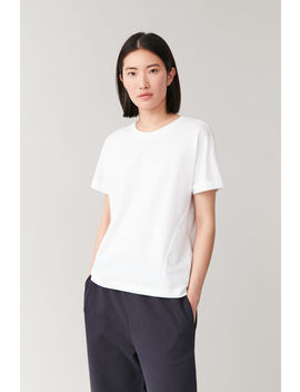 cotton-t-shirt-with-rolled-cuffs by cos