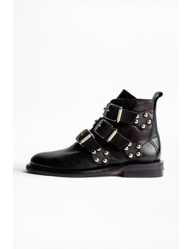Laureen Buckle Studs Ankle Boots by Zadig & Voltaire