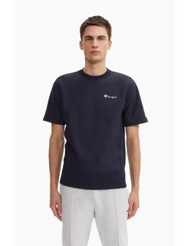 Reverse Weave Sweatshirt Mit Kleinem Logo Schriftzug Und Kurzen Ärmeln by Champion