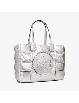 Ella Metallic Mini Puffer Tote by Tory Burch