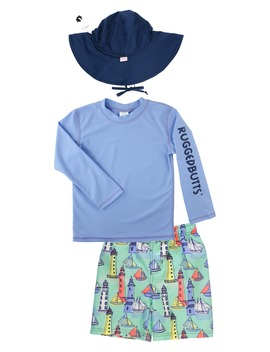 two-piece-rashguard-swimsuit-&-floppy-hat-set by ruggedbutts