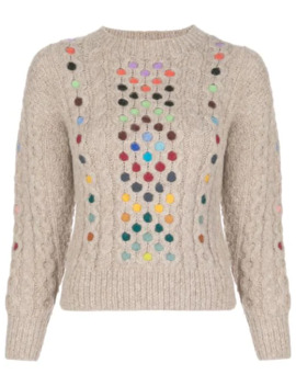 contrasting-cable-knit-jumper by rosie-assoulin