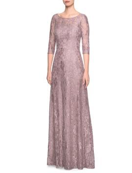 lace-evening-dress by la-femme