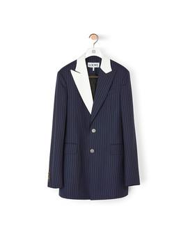 2 Bt Tuxedo Stripe Jacket       Navy/White by Loewe