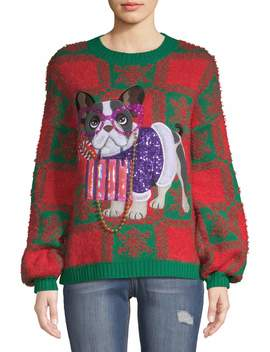 holiday-time-womens-dog-ugly-christmas-sweater by holiday-time