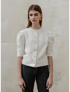 wool-puff-half-sleeve-cardigan-[ivory] by till-i-die