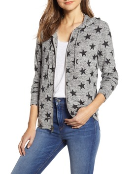 star-pattern-front-zip-hooded-cotton-blend-sweatshirt by lucky-brand