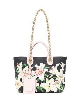 capri-small-floral-canvas-tote by dolce-&-gabbana