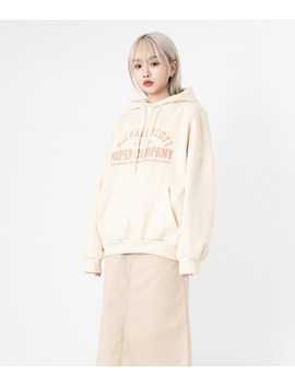 Neverm!Nd Front Lettering Print Hoodie by Mixxmix