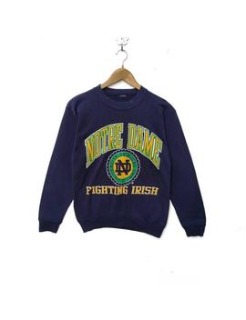 vintage-university-of-notre-dame-sweatshirt-sweater-long-sleeve-hip-hop-swag-rap-tee-crew-neck-shirt-90s-extra-small-size-fighting-irish by etsy