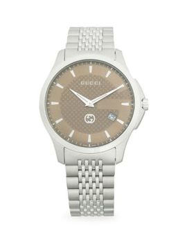 126-lg-stainless-steel-bracelet-watch by gucci
