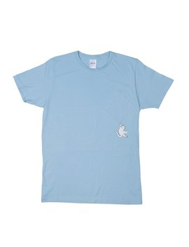 Hang In There Pocket Tee (Baby Blue) by Ripndip