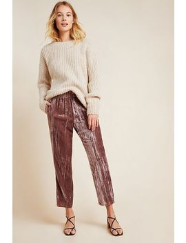 josephine-velvet-tapered-trousers by tina-+-jo