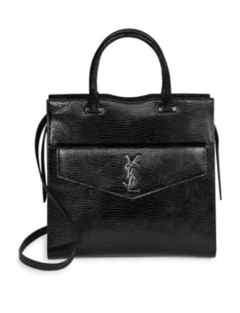 medium-uptown-lizard-embossed-leather-satchel by saint-laurent