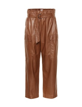 high-rise-cropped-leather-pants by brunello-cucinelli