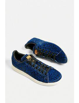 adidas-originals-stan-smith-blue-leopard-print-trainers by adidas-originals