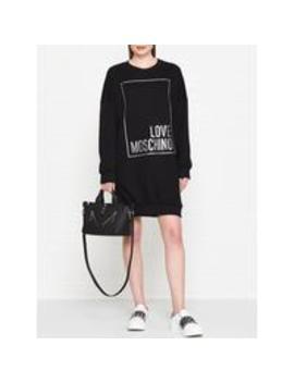 box-logo-sweater-dress---black by love-moschino
