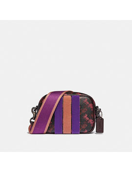 Camera Bag 16 With Horse And Carriage Print And Varsity Stripe by Coach