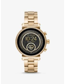 sofie-heart-rate-gold-tone-smartwatch by michael-kors-access
