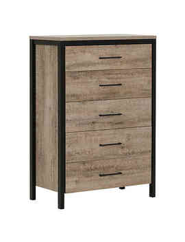 South Shore Munich Chest In Oak/Black by South Shore