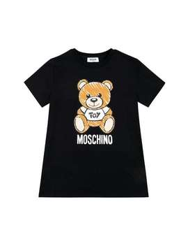 sketched-teddy-logo-tee---black by moschino