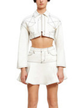 Cropped Reconstructed Denim Jacket by Chloe Sevigny For Opening Ceremony
