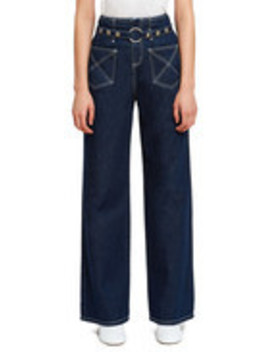 Patchwork Wide Leg Jean by Chloe Sevigny For Opening Ceremony