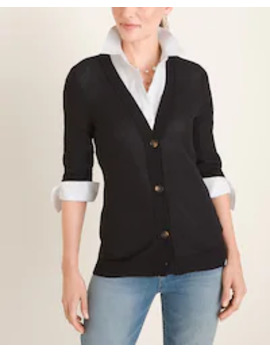 button-front-cardigan by chicos