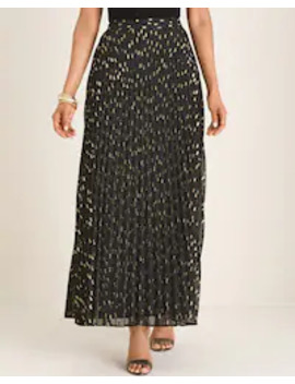 clip-dot-pleated-maxi-skirt by chicos