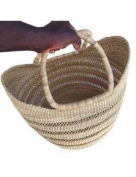 shopping-basket-|african-market-basket-|-market-bag-|-kids--basket-|picnic-basket-|fruit-basket-|bolga-basket-|-straw-bag-|-u-shopper by etsy